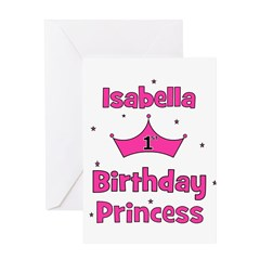 1st Birthday Princess Isabell Greeting Card