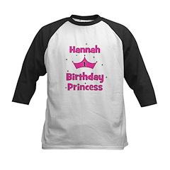 1st Birthday Princess Hannah! Kids Baseball Jersey