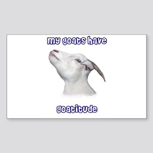 GoatitudeT Rectangle Sticker