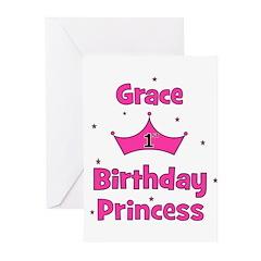 1st Birthday Princess Grace! Greeting Cards (Pk of