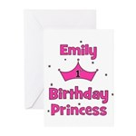 1st Birthday Princess Emily! Greeting Cards (Pk of