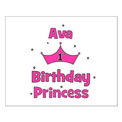 1st Birthday Princess Ava! Posters