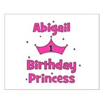 1st Birthday Princess Abigail Small Poster