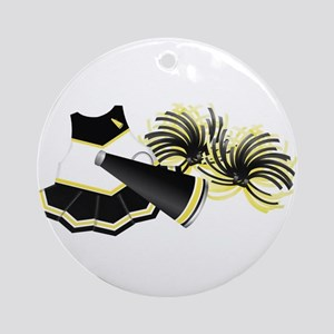 Cheerleading (Black) Ornament (Round)