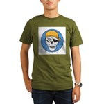 Colored Pirate Skull Organic Men's T-Shirt (dark)