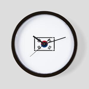 Taped flag Wall Clock
