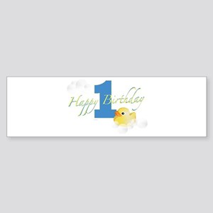 Happy 1st Ducky Birthday! Bumper Sticker