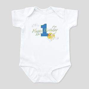 Happy 1st Ducky Birthday! Infant Bodysuit