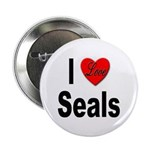 I Love Seals Button