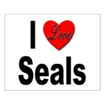 I Love Seals Small Poster