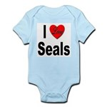 I Love Seals Infant Creeper