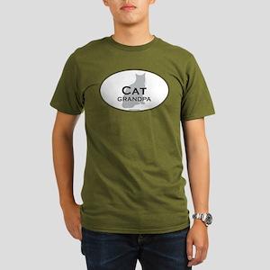 House Cat Grandpa Organic Men's T-Shirt (dark)