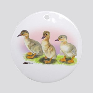 Buff Ducklings Ornament (Round)