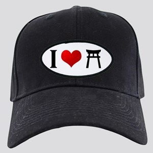 I Love Shintoism Black Cap
