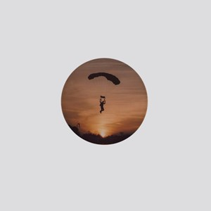 Mini Button with sunset skydiver
