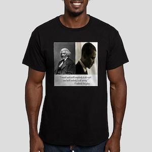 Douglass-Obama Men's Fitted T-Shirt (dark)
