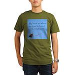 Crazy Horse Quote Organic Men's T-Shirt (dark)