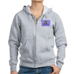 Raccoon and Tracks Women's Zip Hoodie