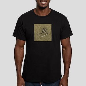 Opossum Hind Track Men's Fitted T-Shirt (dark)