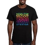 Rainbow Cat Tracks Men's Fitted T-Shirt (dark)