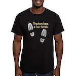 Foot Fetish Men's Fitted T-Shirt (dark)