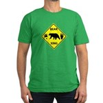 Bear and Tracks XING Men's Fitted T-Shirt (dark)