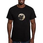 Bobcat in Brush Men's Fitted T-Shirt (dark)