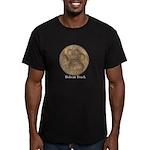 Real Bobcat Pawprint Men's Fitted T-Shirt (dark)