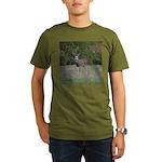 Four Point Buck Organic Men's T-Shirt (dark)