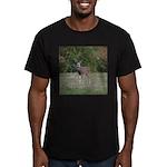 Four Point Buck Men's Fitted T-Shirt (dark)