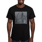 Real Deer Track Men's Fitted T-Shirt (dark)