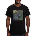 Black Tailed Jackrabbit Men's Fitted T-Shirt (dark