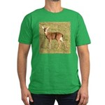Forked Horn Buck Men's Fitted T-Shirt (dark)