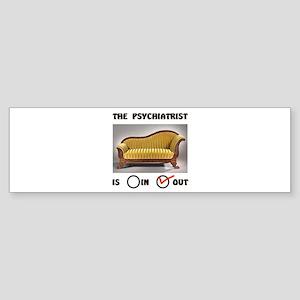 PSYCHO COUCH Bumper Sticker