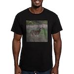 Big 4-point Buck Men's Fitted T-Shirt (dark)