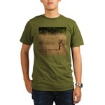 Sitting Jackrabbit Organic Men's T-Shirt (dark)