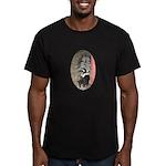 Little Skunk Big Tail Men's Fitted T-Shirt (dark)