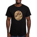 Dog Track Plain Men's Fitted T-Shirt (dark)