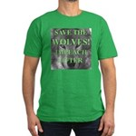 Help Idaho Wolves Men's Fitted T-Shirt (dark)