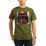 Stop the wolf massacre Organic Men's T-Shirt (dark