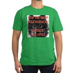 Stop the wolf massacre Men's Fitted T-Shirt (dark)