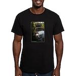 Otter Paradise Men's Fitted T-Shirt (dark)