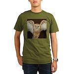 Barn Owl Organic Men's T-Shirt (dark)