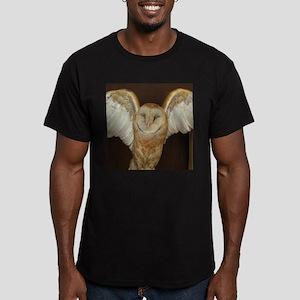 Barn Owl Men's Fitted T-Shirt (dark)