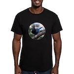 Steller's Jay Hollering Men's Fitted T-Shirt (dark