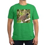 California Quail Men's Fitted T-Shirt (dark)