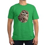 Northern Spotted Owl Men's Fitted T-Shirt (dark)