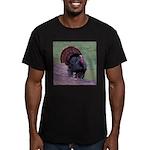 Strutting Tom Turkey Men's Fitted T-Shirt (dark)
