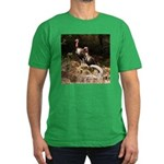 Two Turkeys on a Log Men's Fitted T-Shirt (dark)