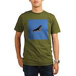Red-Tailed Hawk Organic Men's T-Shirt (dark)